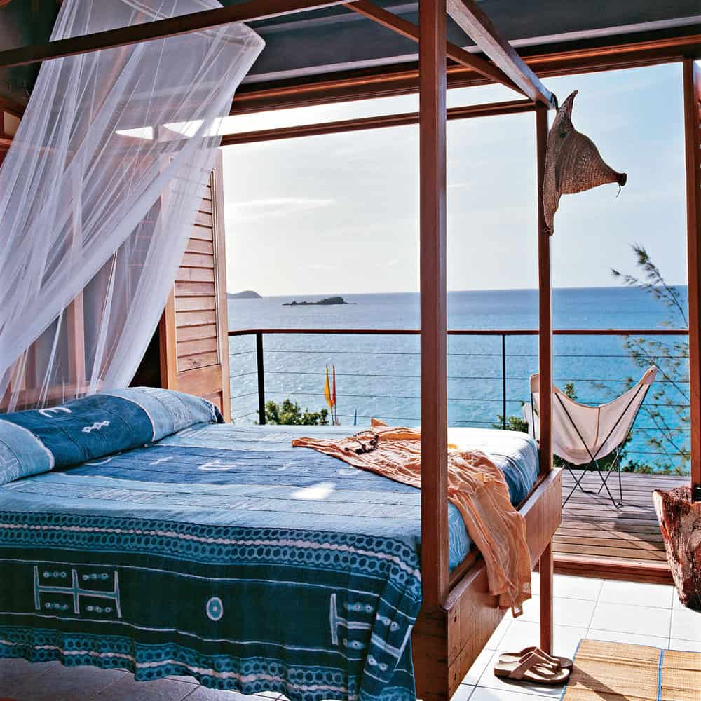 guest bedroom with scenery