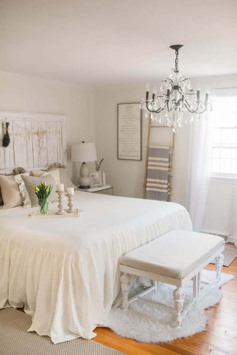 layered fabric Refreshing French Country Bedroom Ideas