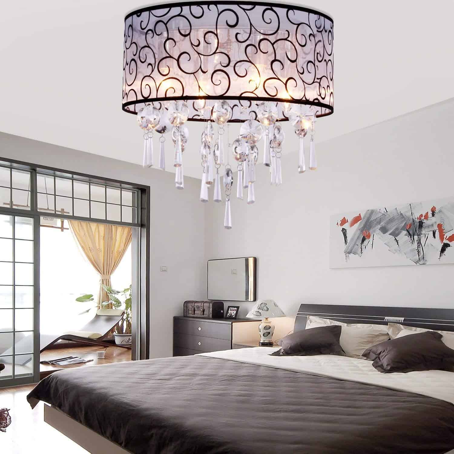 pattern light fixture Mesmerizing Master Bedroom Lighting Ideas