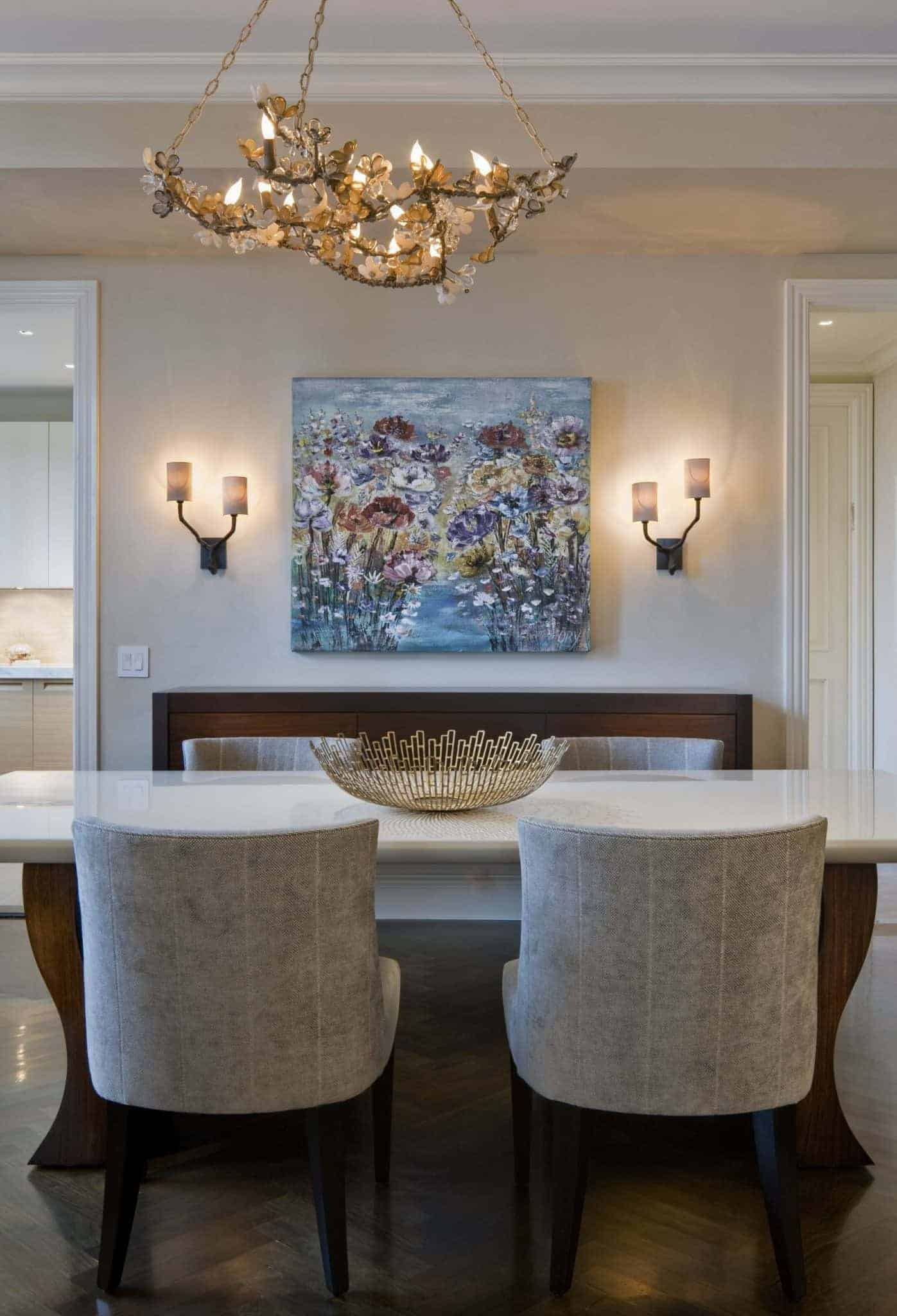 wall sconces in dining