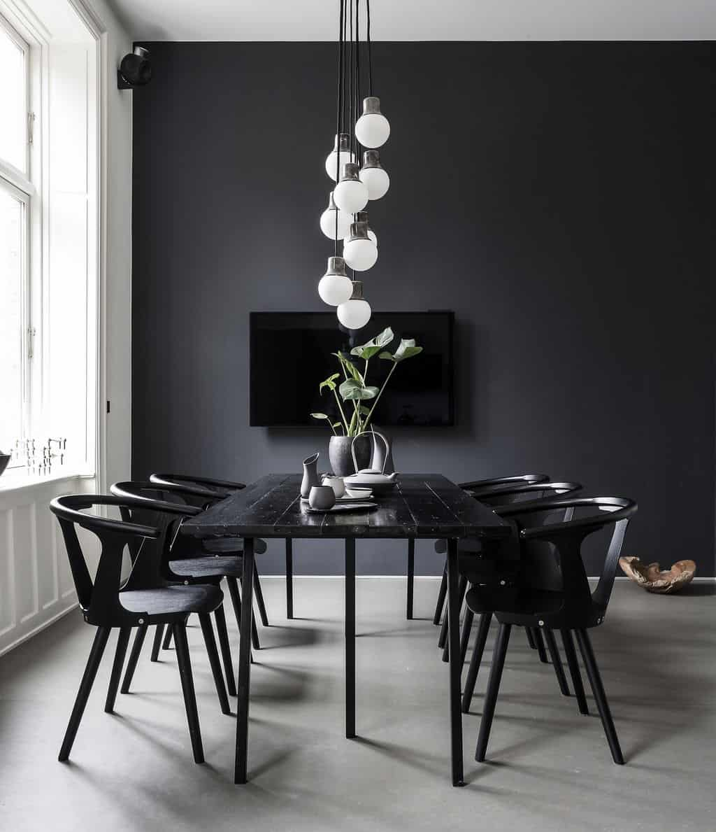 black table in masculine