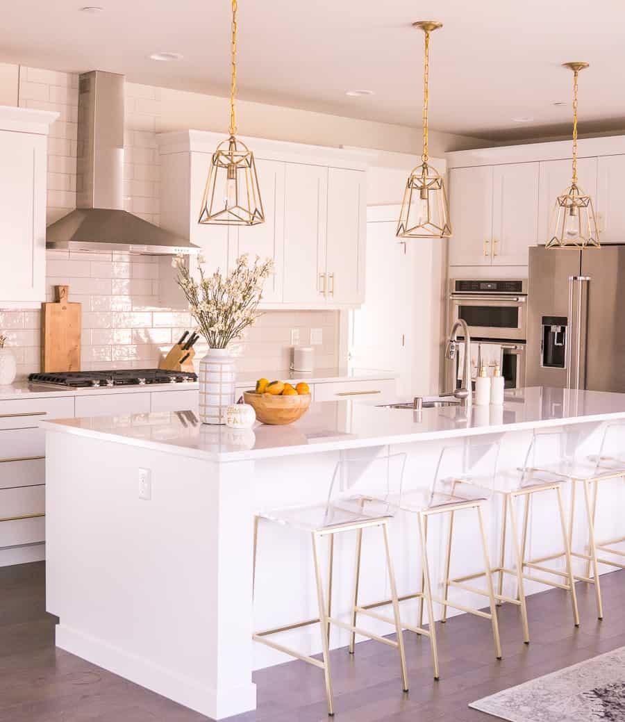light fixture in kitchen