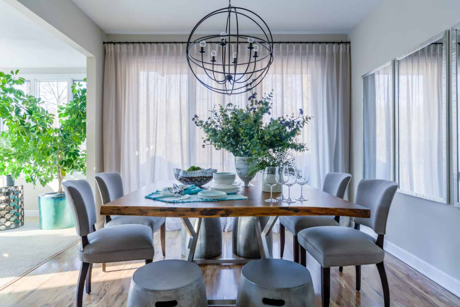 modern chairs for masculine decor Fascinating Masculine Dining Rooms