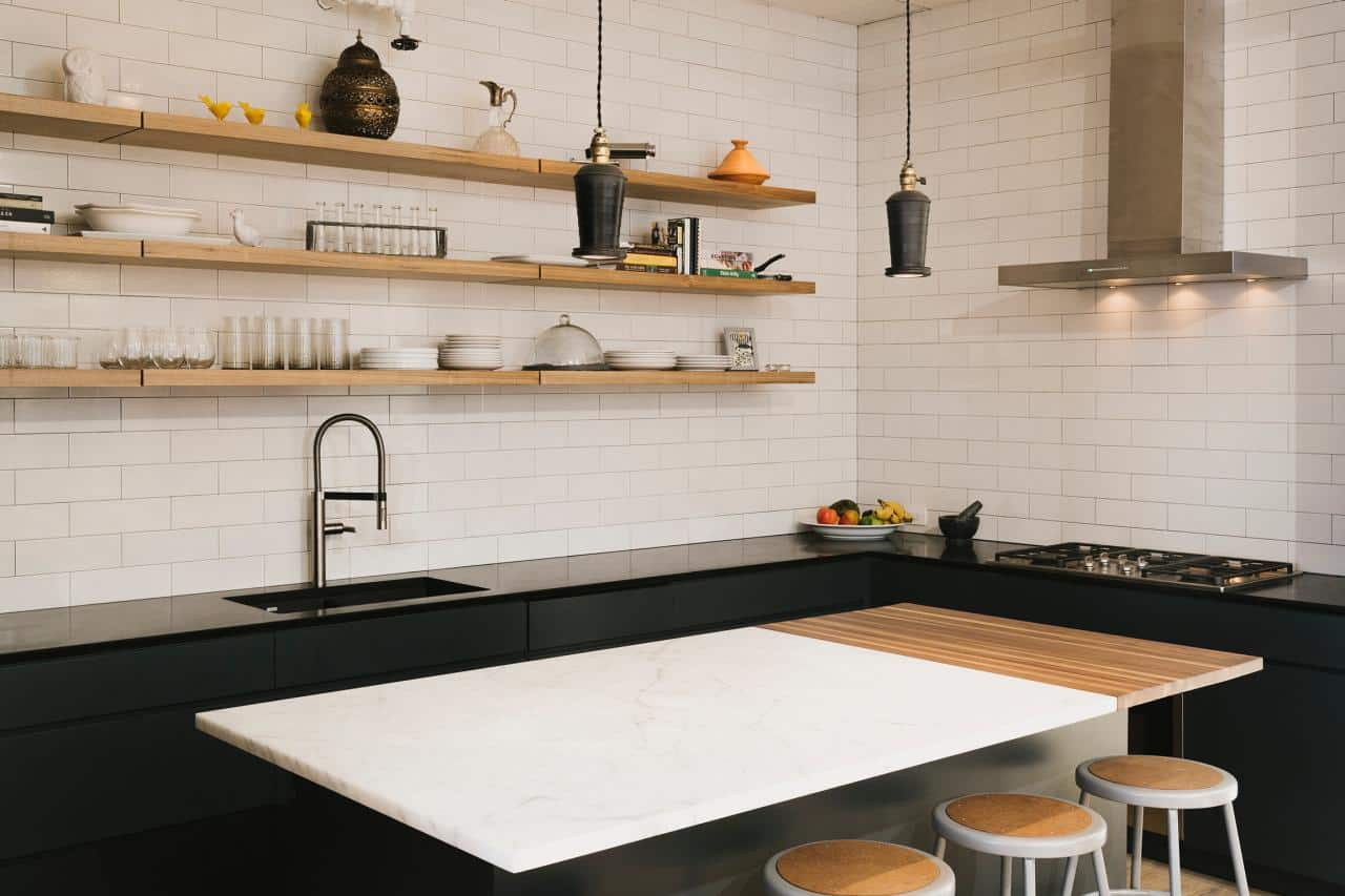openshelving in kitchen