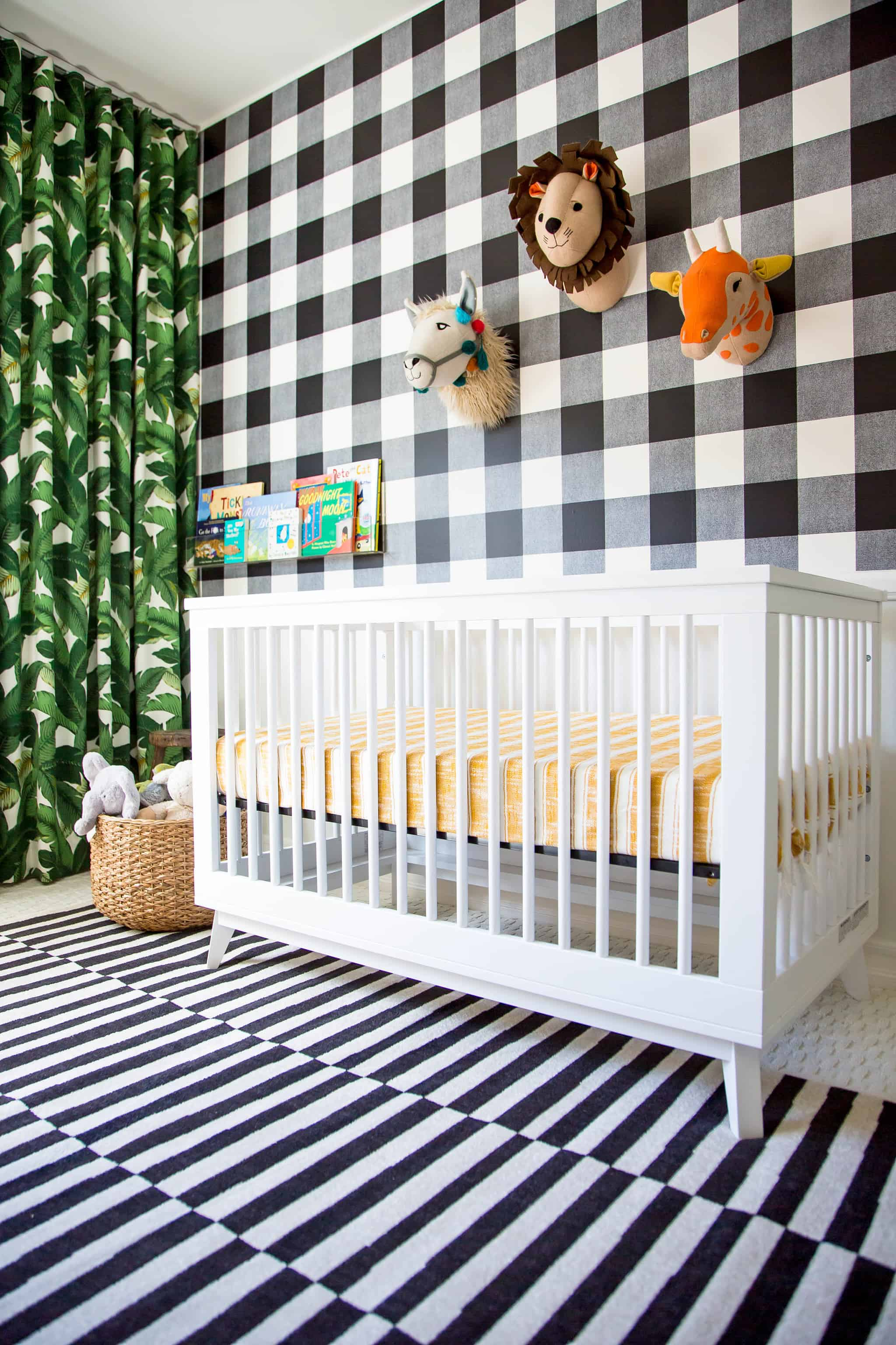 plaid walls Nursery Trends for The Modern Parent