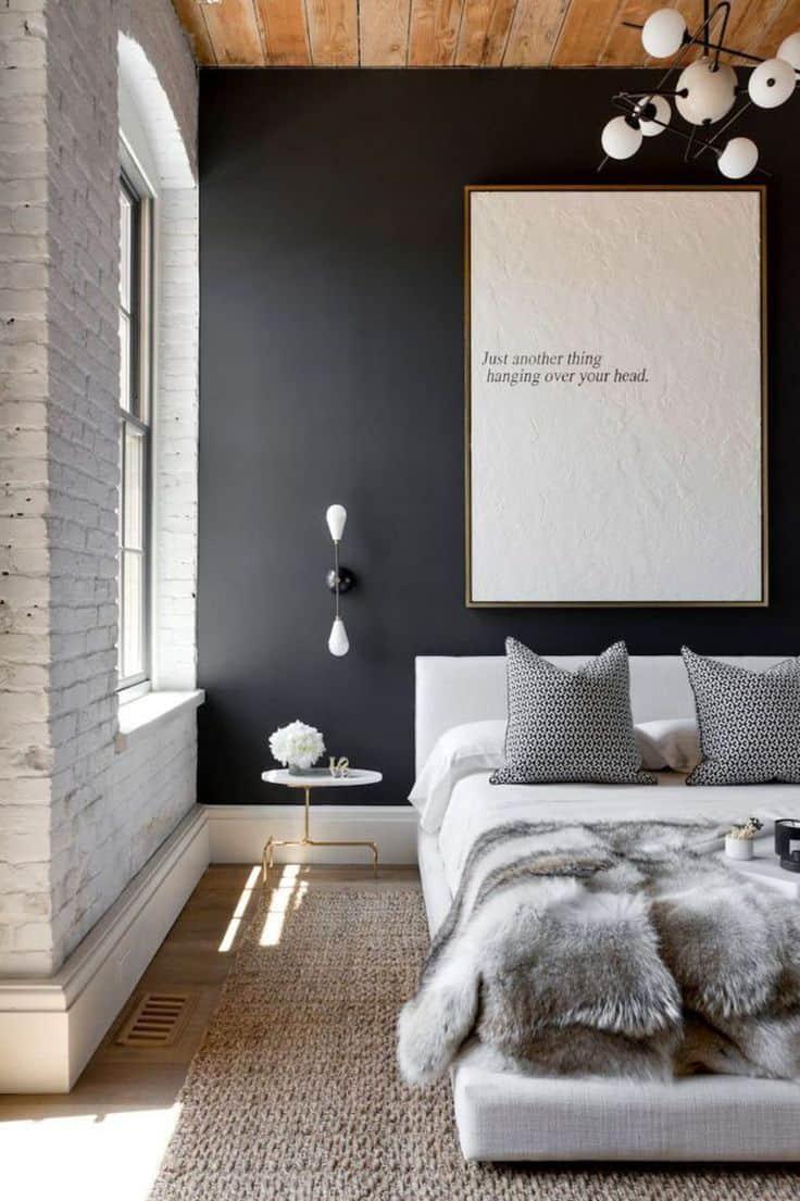 soft black bedroom