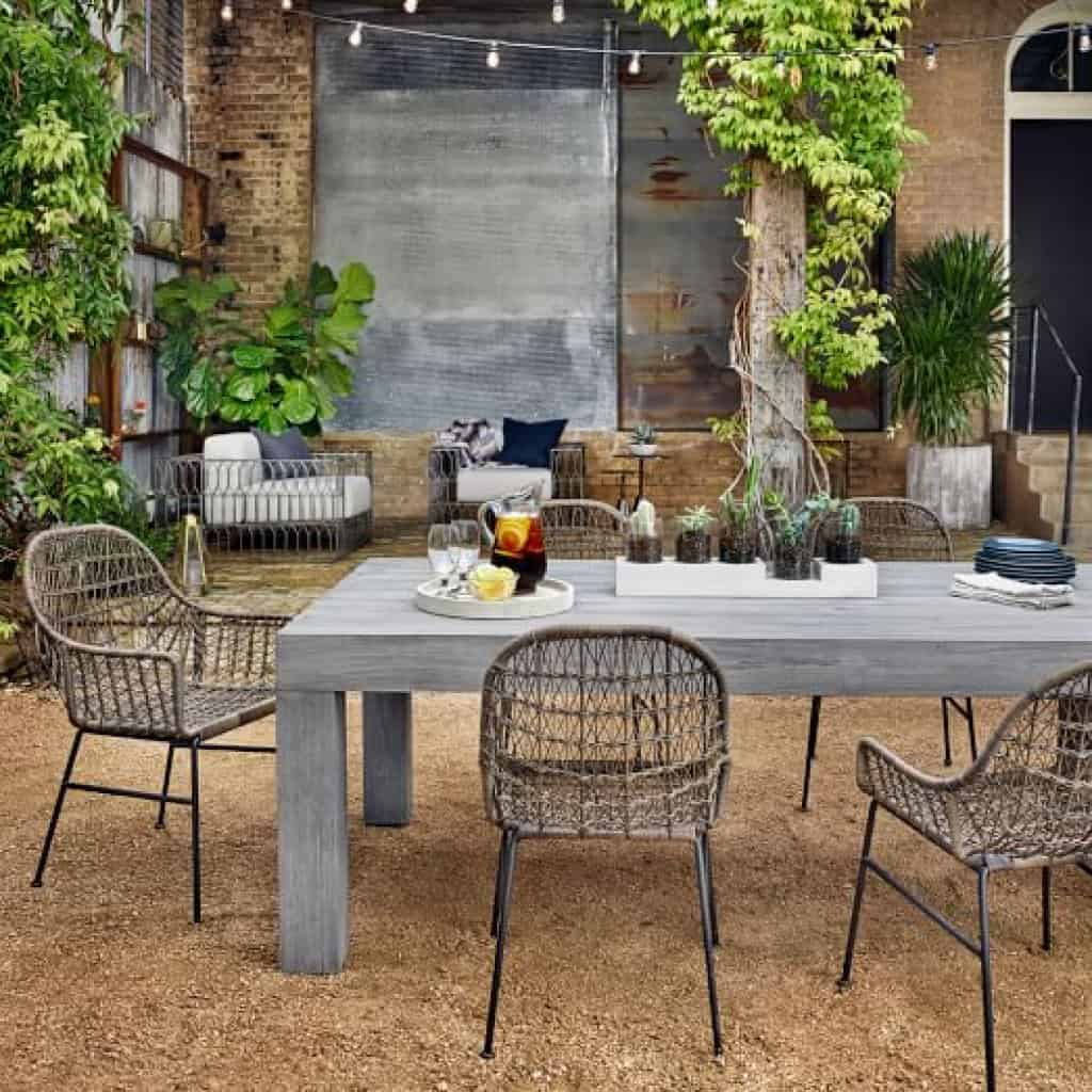 Modern Teak Outdoor Dining Table   West Elm in Idea Of Modern Teak Outdoor Furniture
