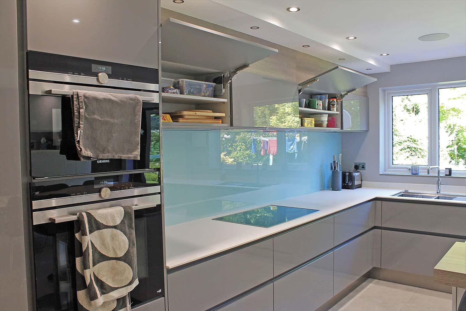 Sleek cabinets