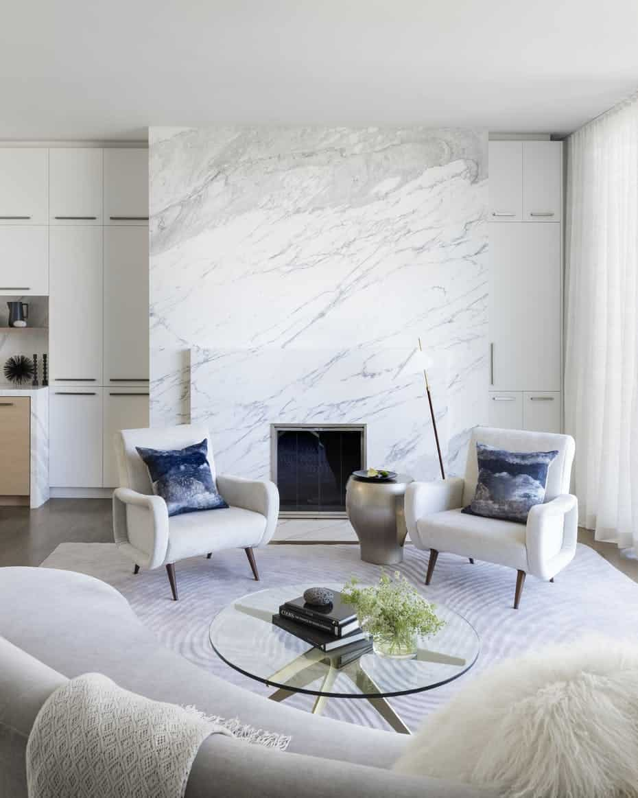 accent wall in living room