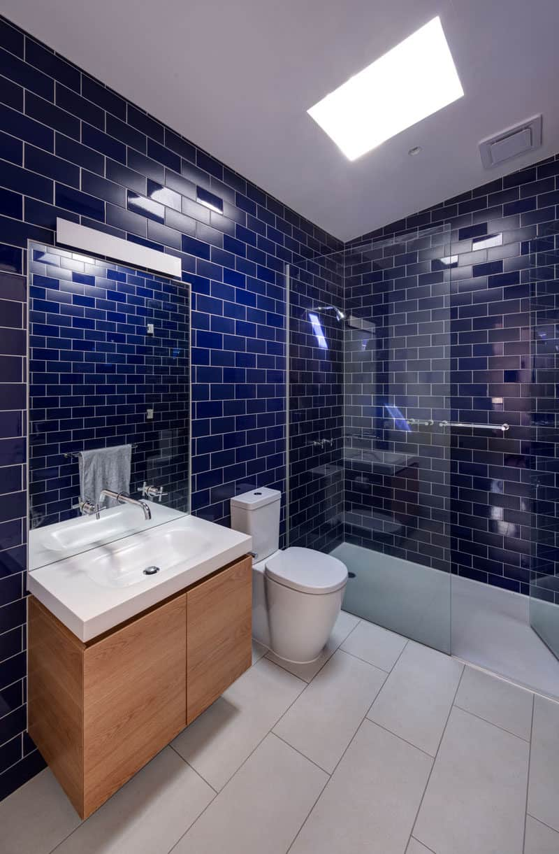 blue tiles in batjjroom