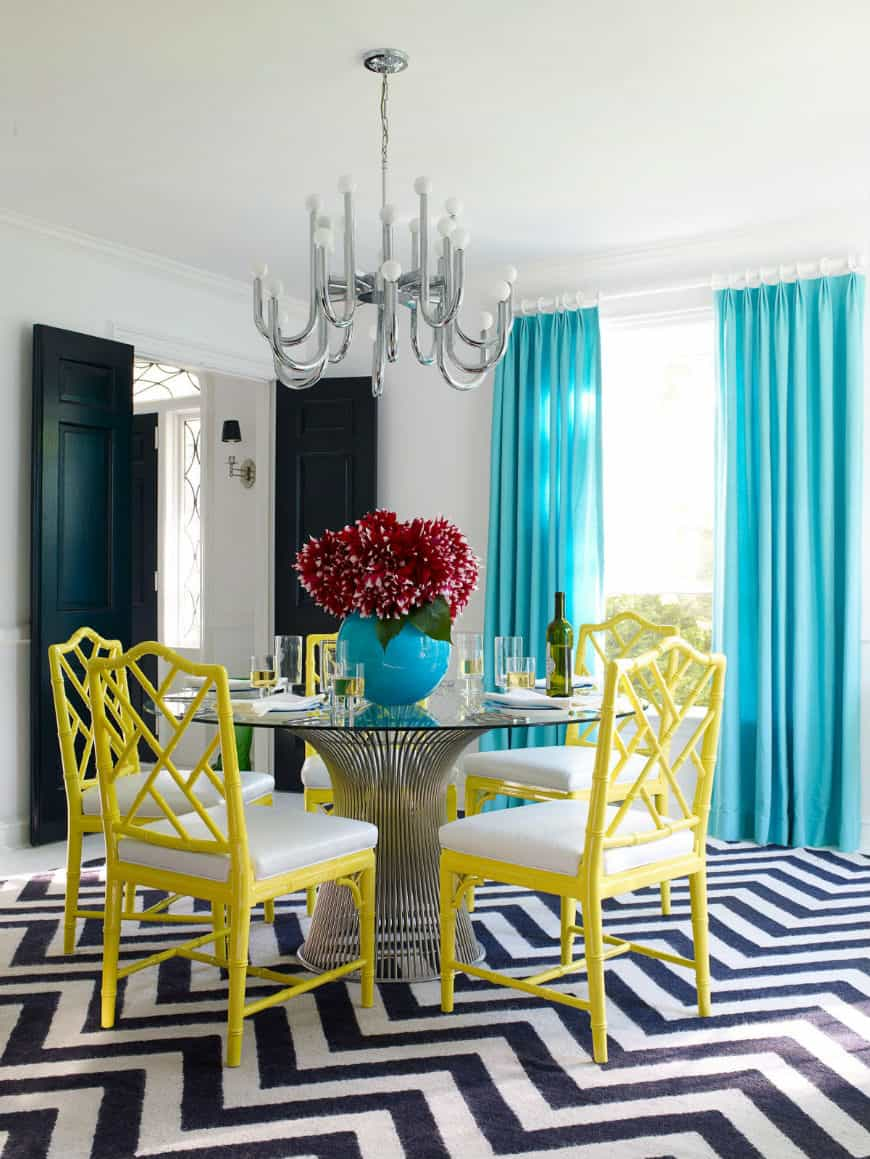 colorful small dining