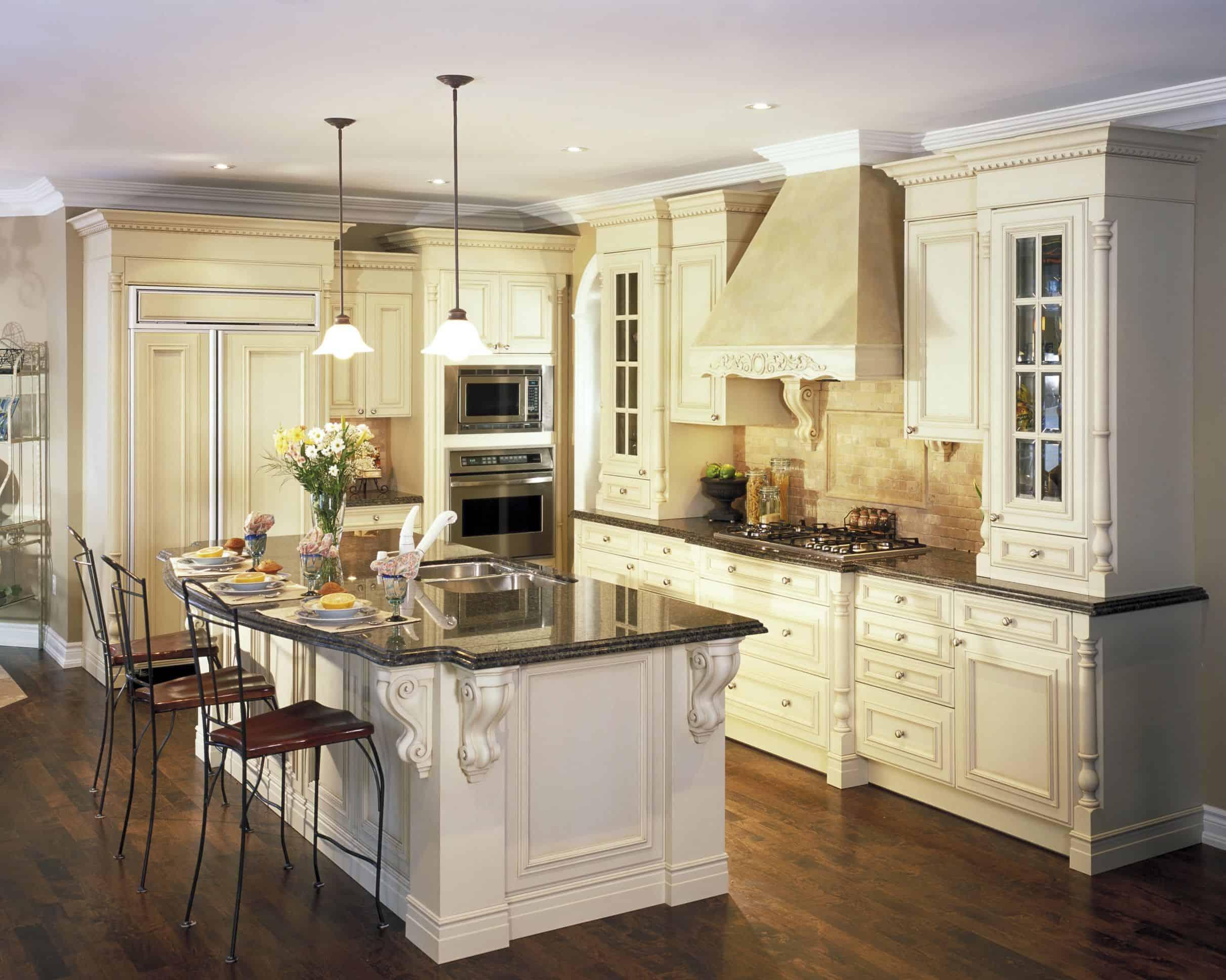 dark wood in kitchen