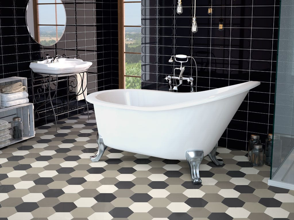 hexagon tiles Creative Tile Ideas To Enhance The Bathroom