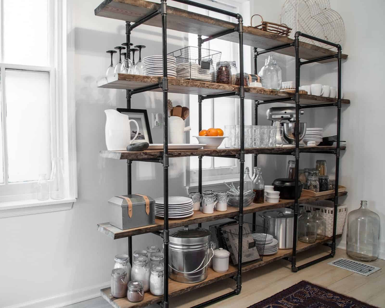industrial kitchen shelves