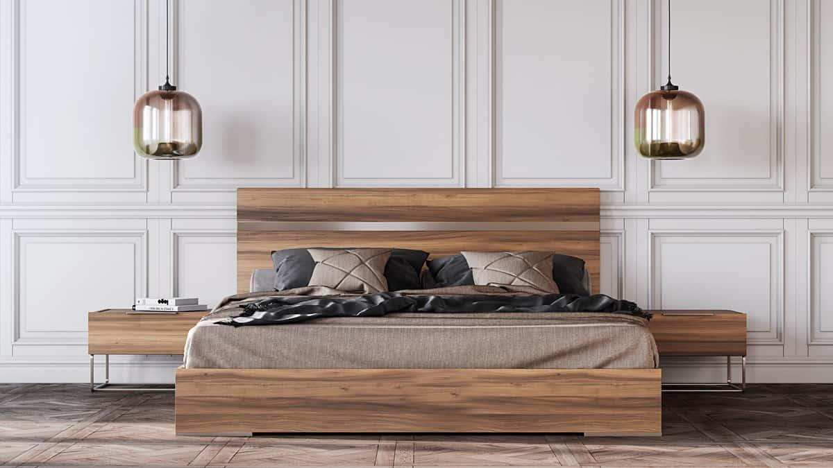 light fixture in bedroom
