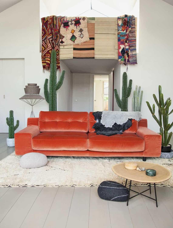 orange velkvet Fall Home Decor Trends for 2019