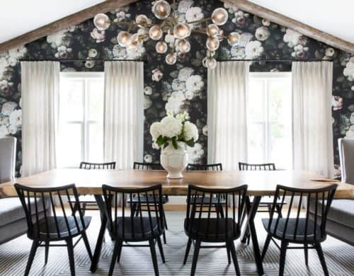 Eye-catching Dining Rooms with Floral Wallpaper