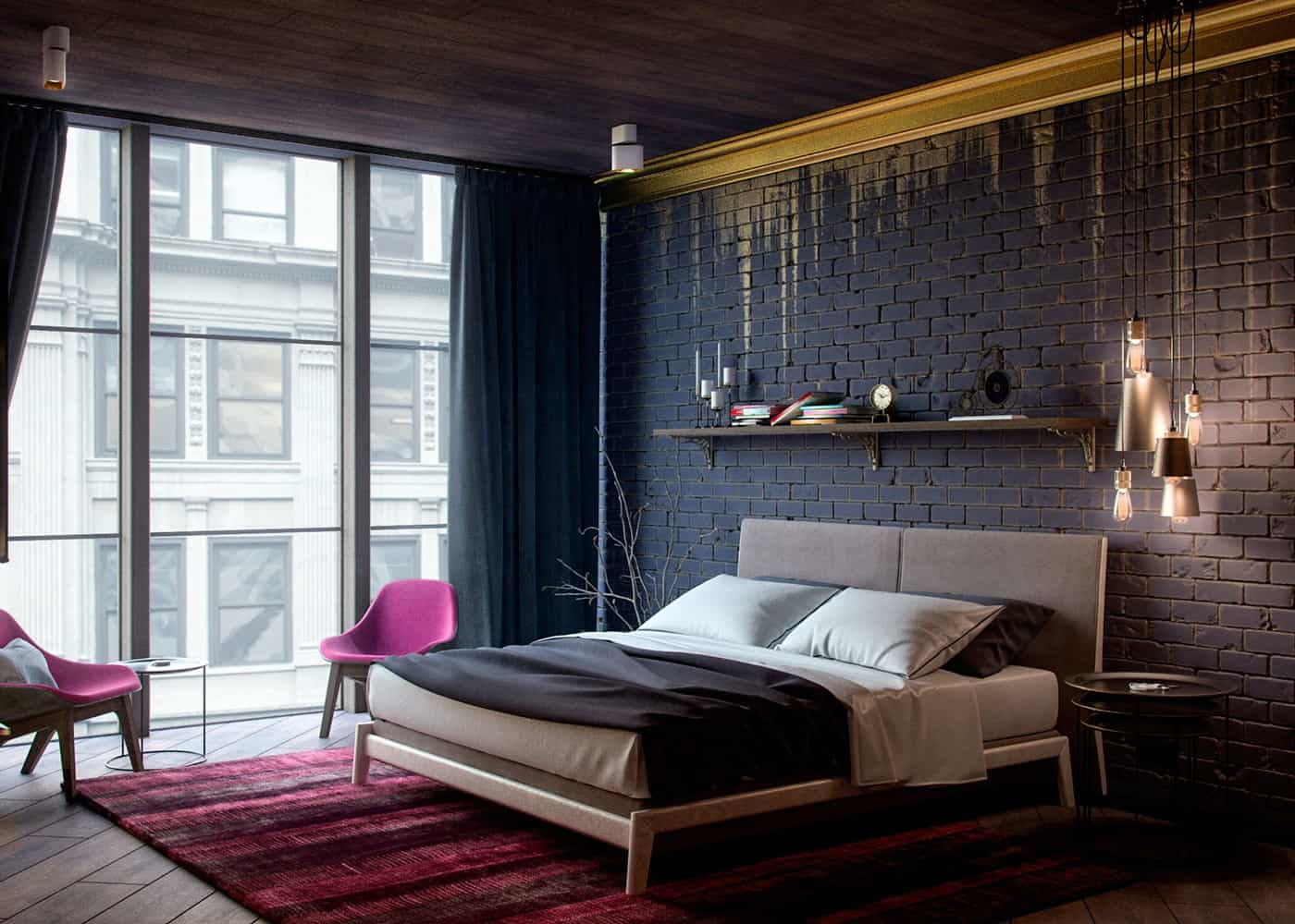 blaxk and gold 10 Rooms That Make A Statement With A Monochromatic Display