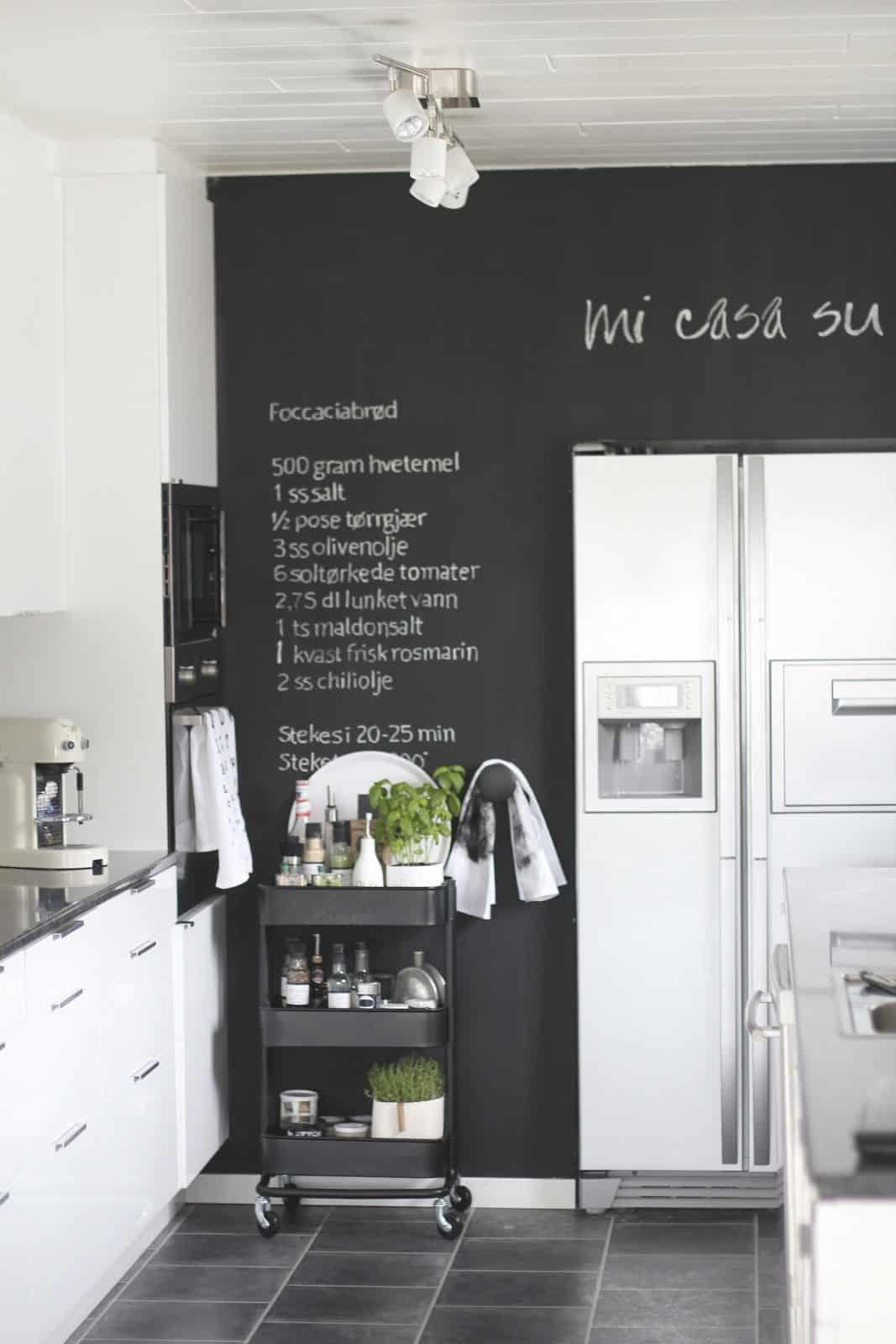 chalkboard in ktichen
