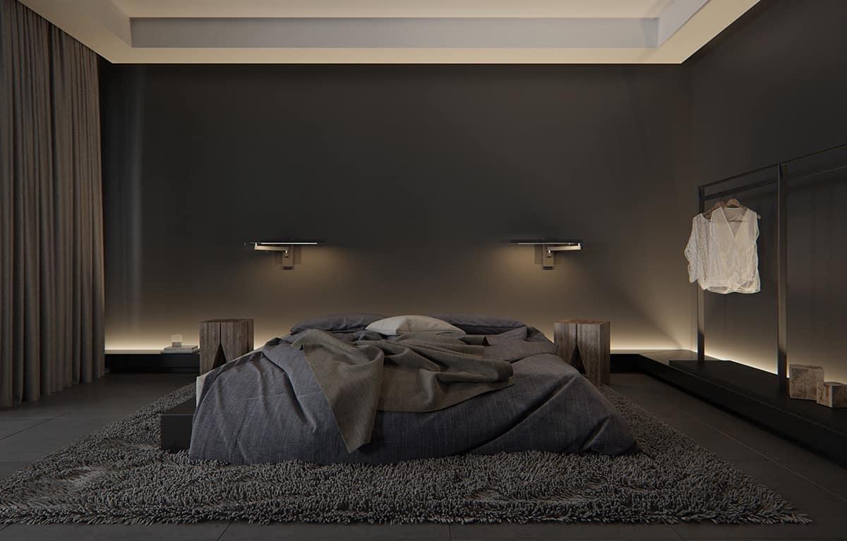 matte black walls
