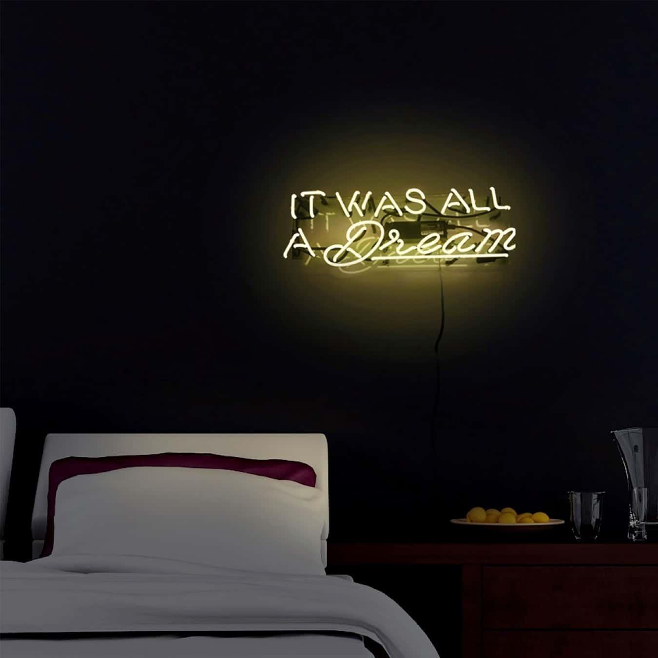neon yellow sign