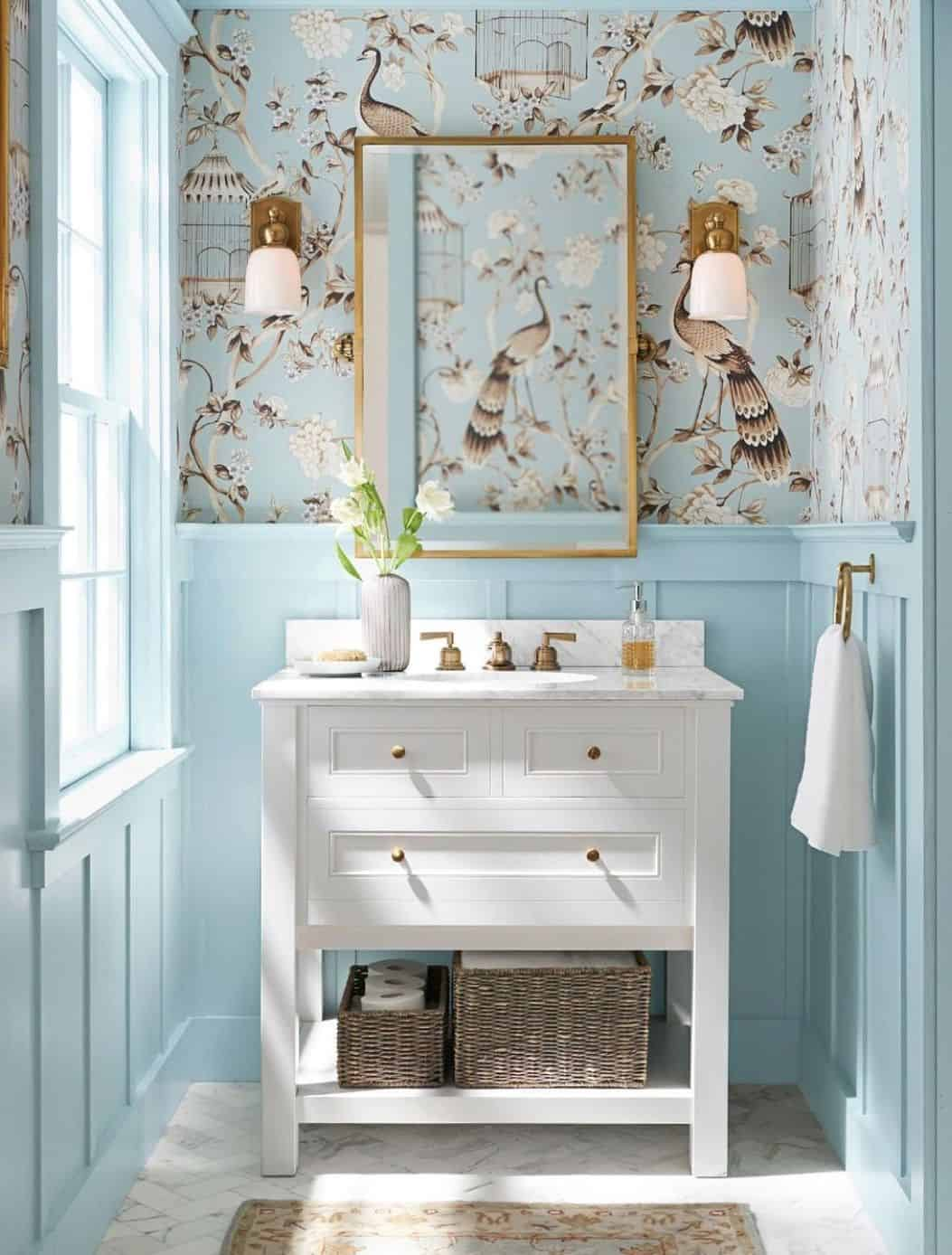 paint inspired wallpaper Bathroom wallpapers that will inspire your next home upgrade