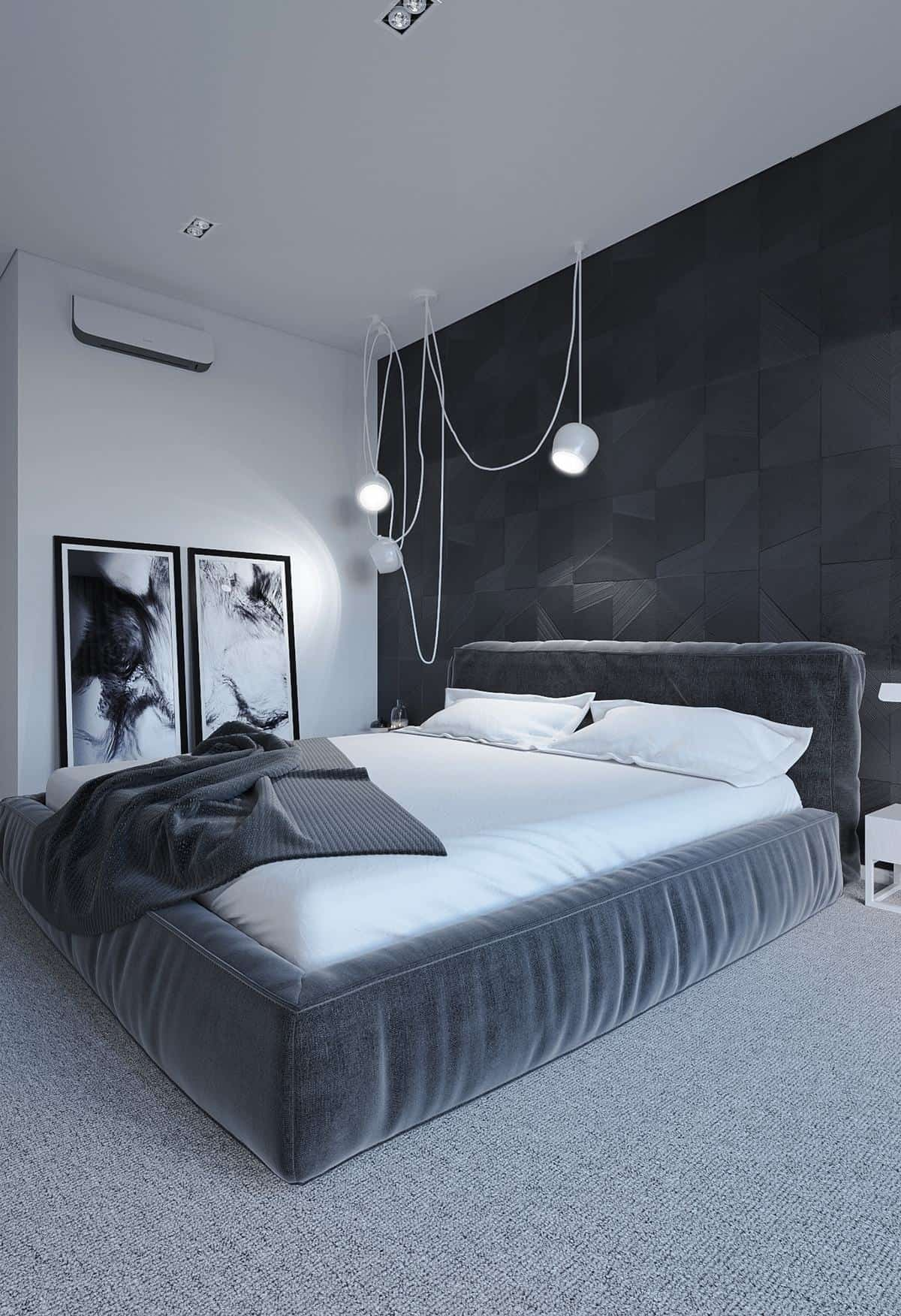 soft black in bedroom