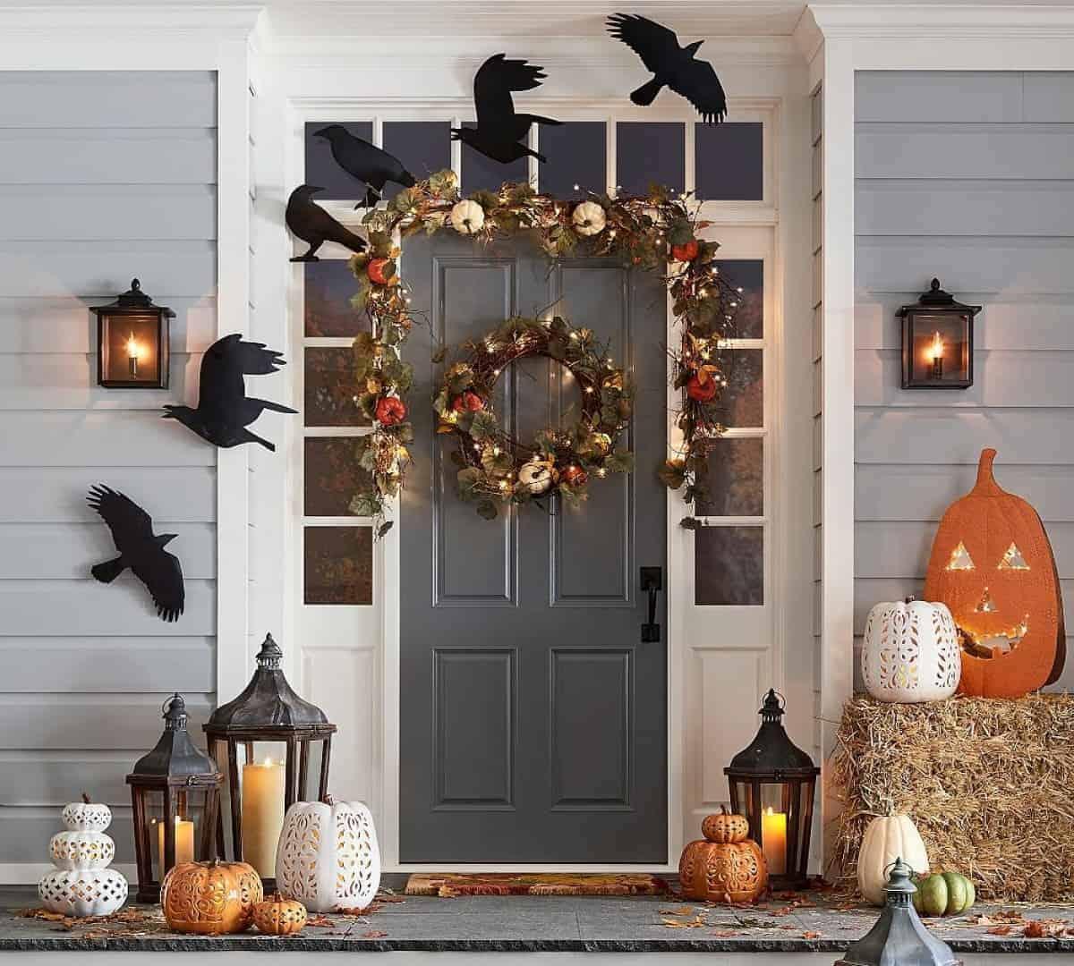 wreath in halloween