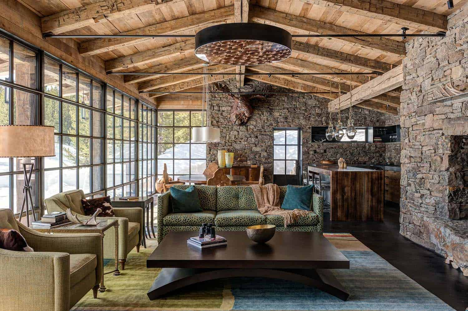barn inspired lviing room