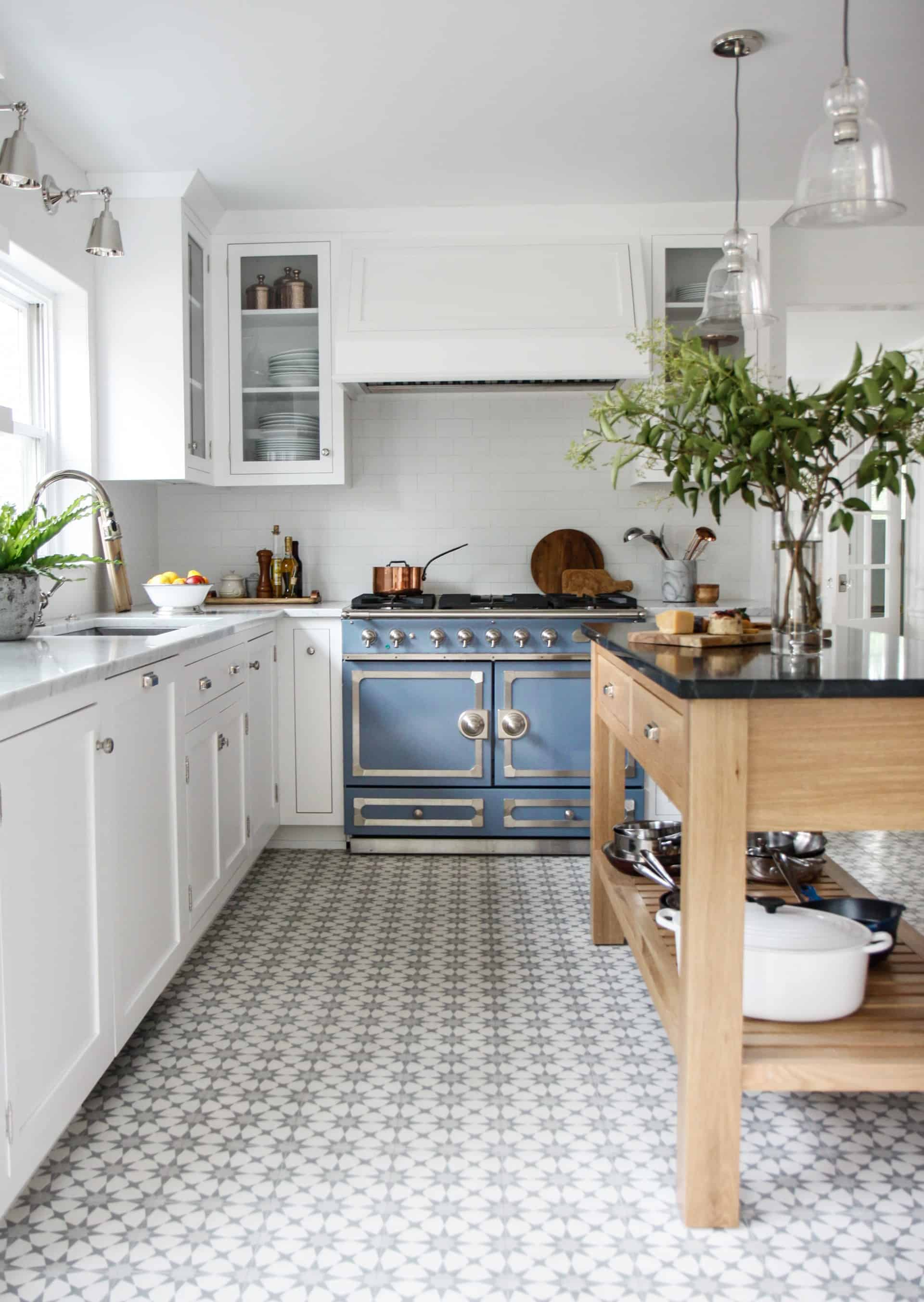 blue tiles Whimsical Blue Kitchens That Are Too Charming To Be True