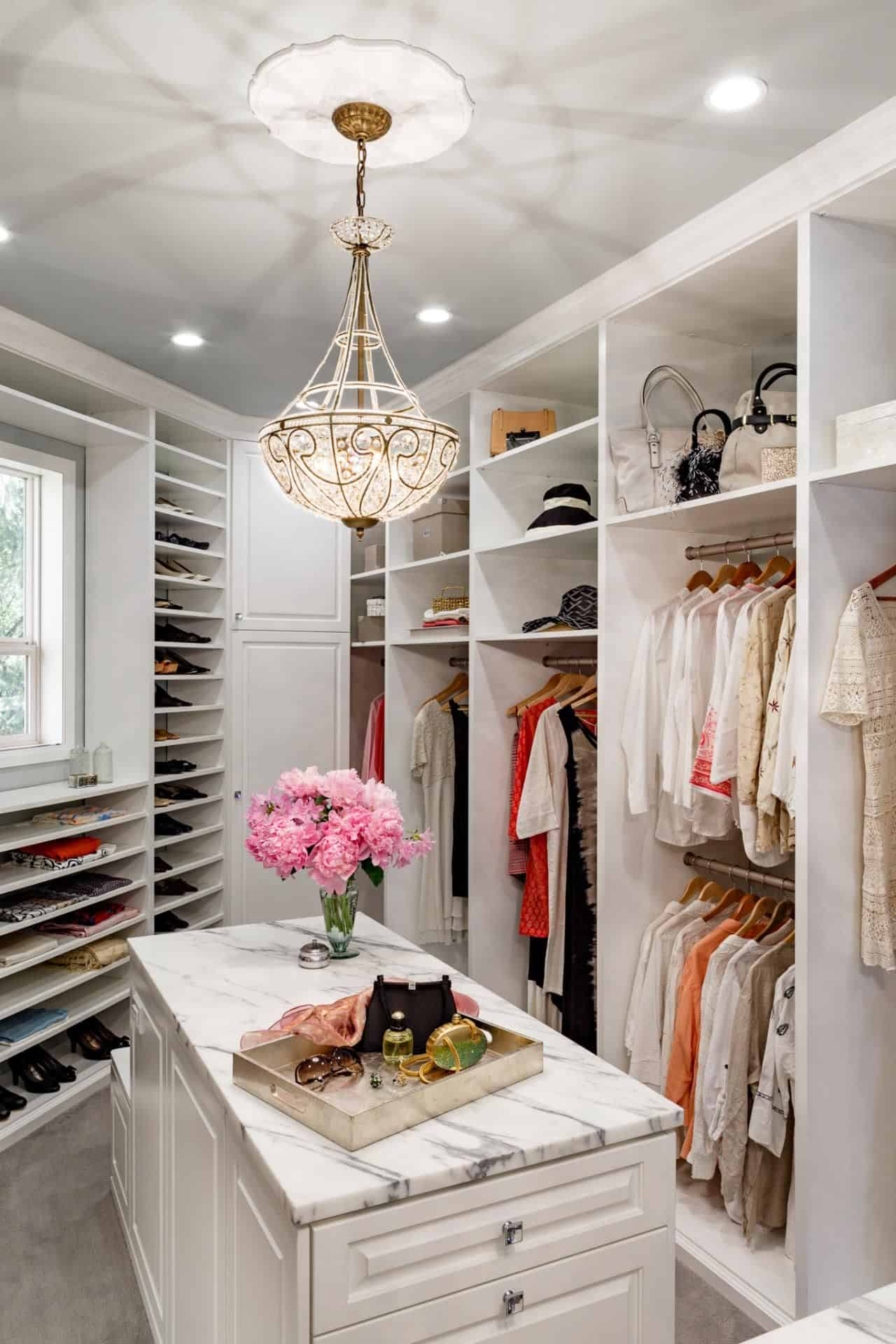 closet with island Closet organization ideas to help you get the most out of your space