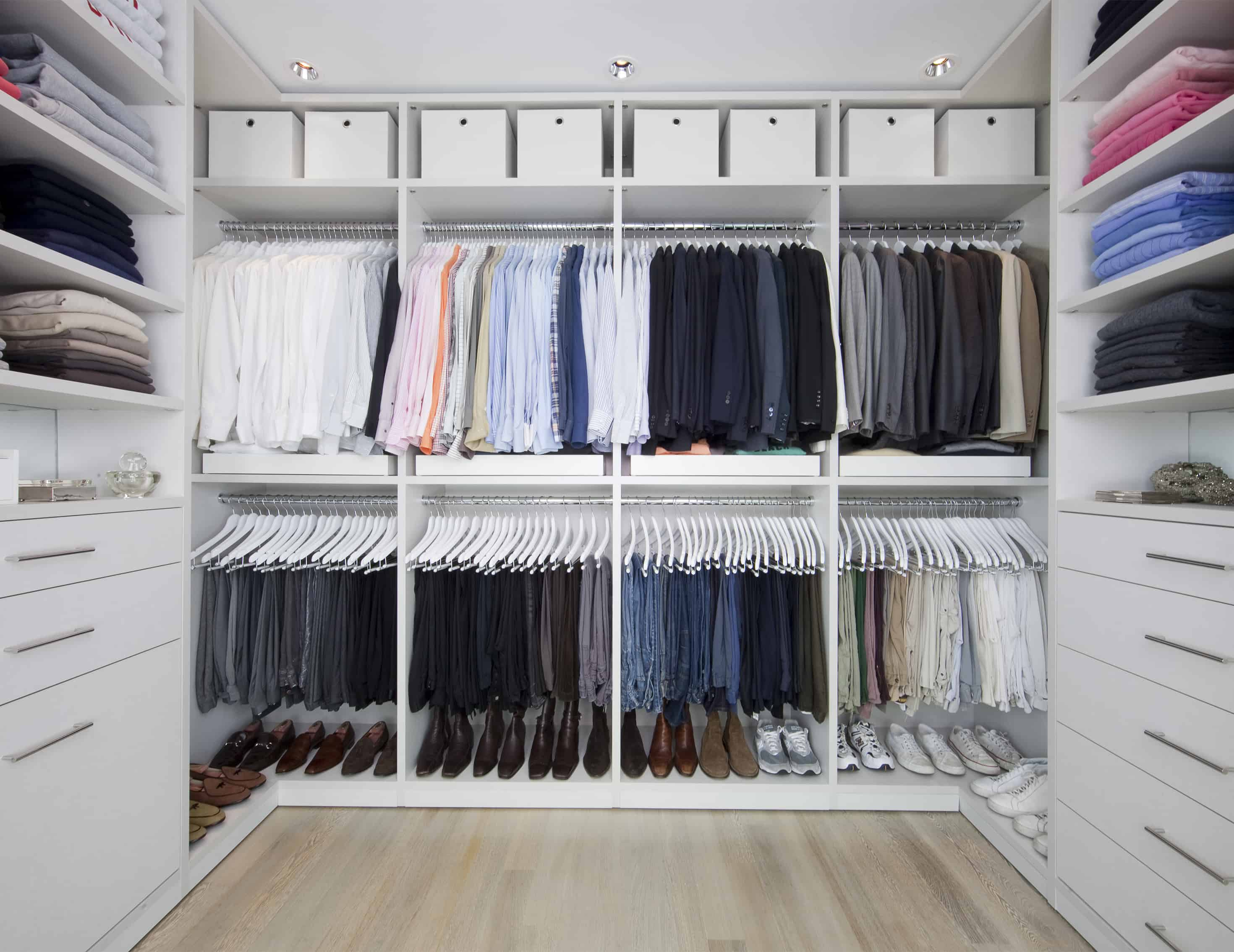 double hanging in closet Closet organization ideas to help you get the most out of your space