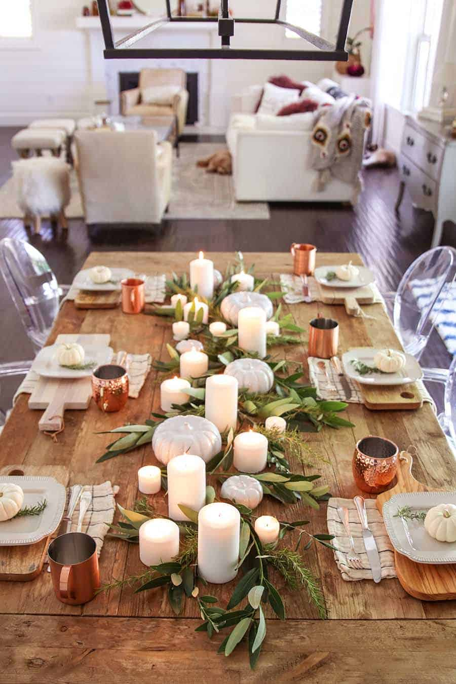 fall set table