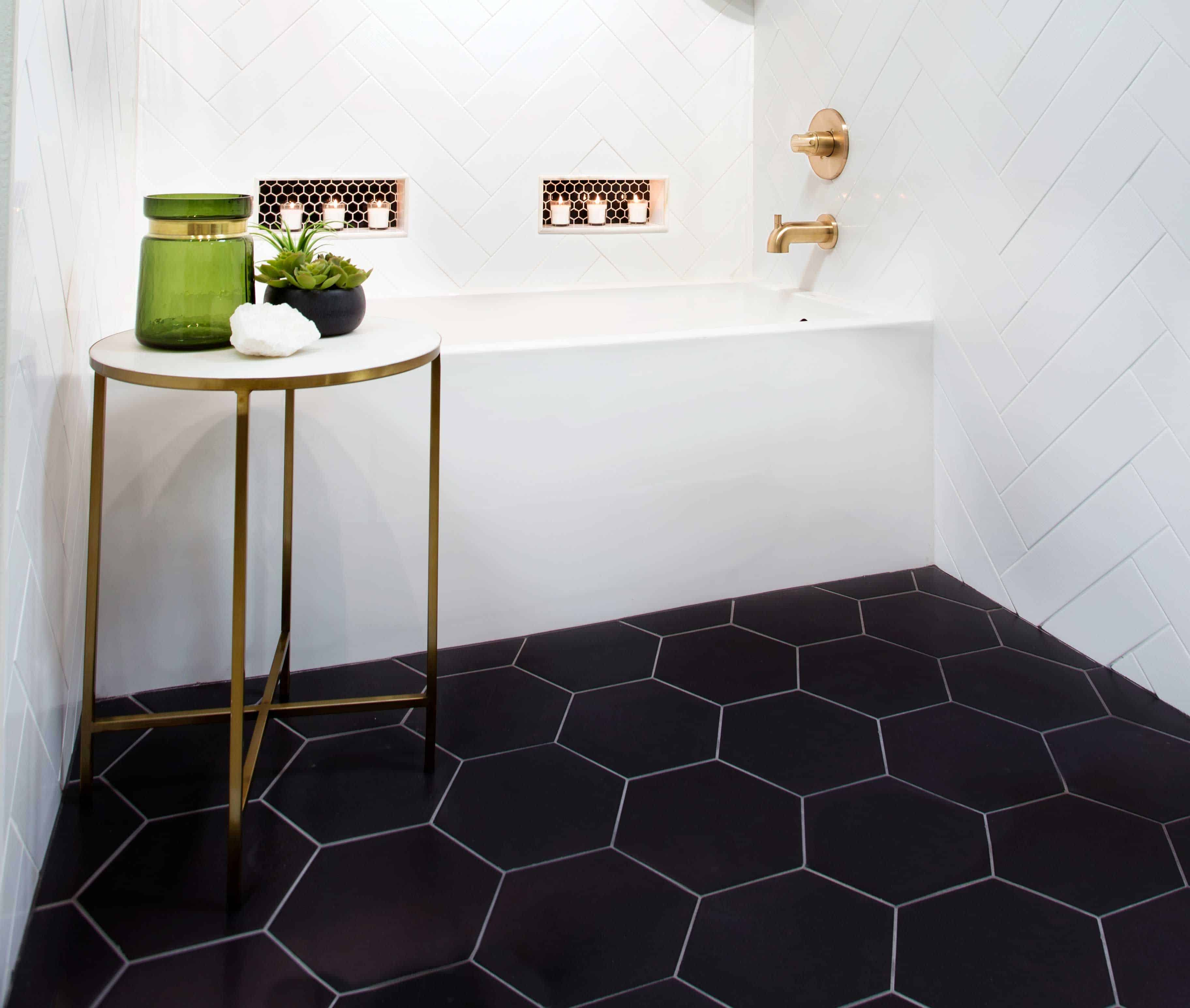 hexagon tiles in bathroom Bathroom Tile Ideas That Are Sure To Inspire Your Next Renovation