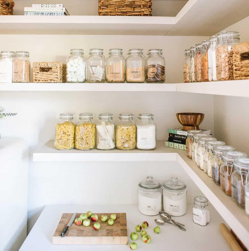 mason jars in kitchen