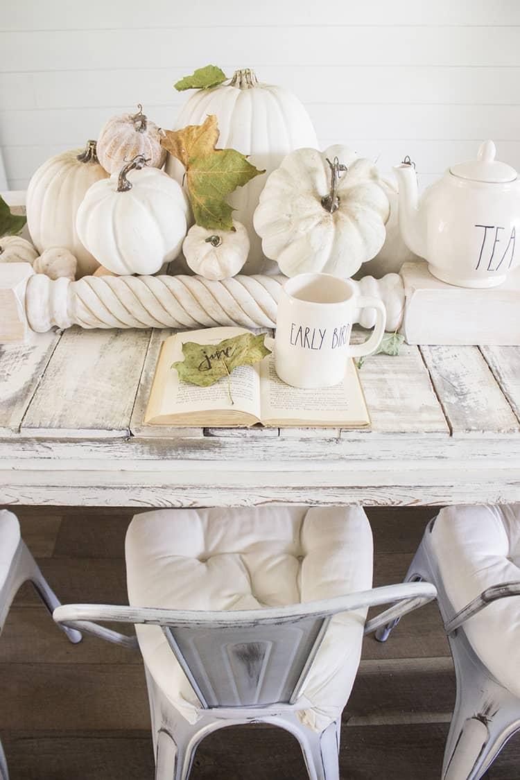 pumpkins in living room