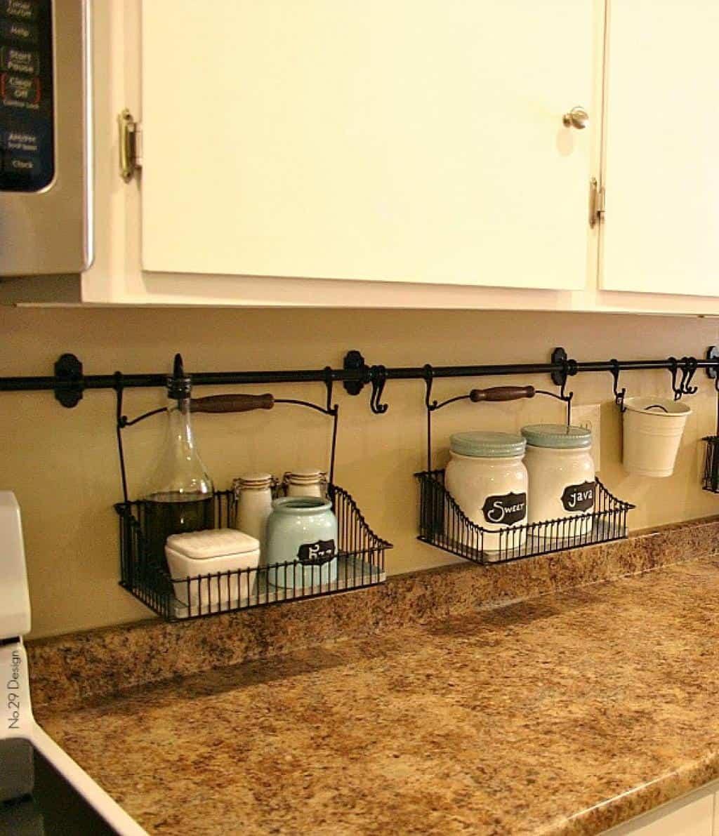 rack in kitchen