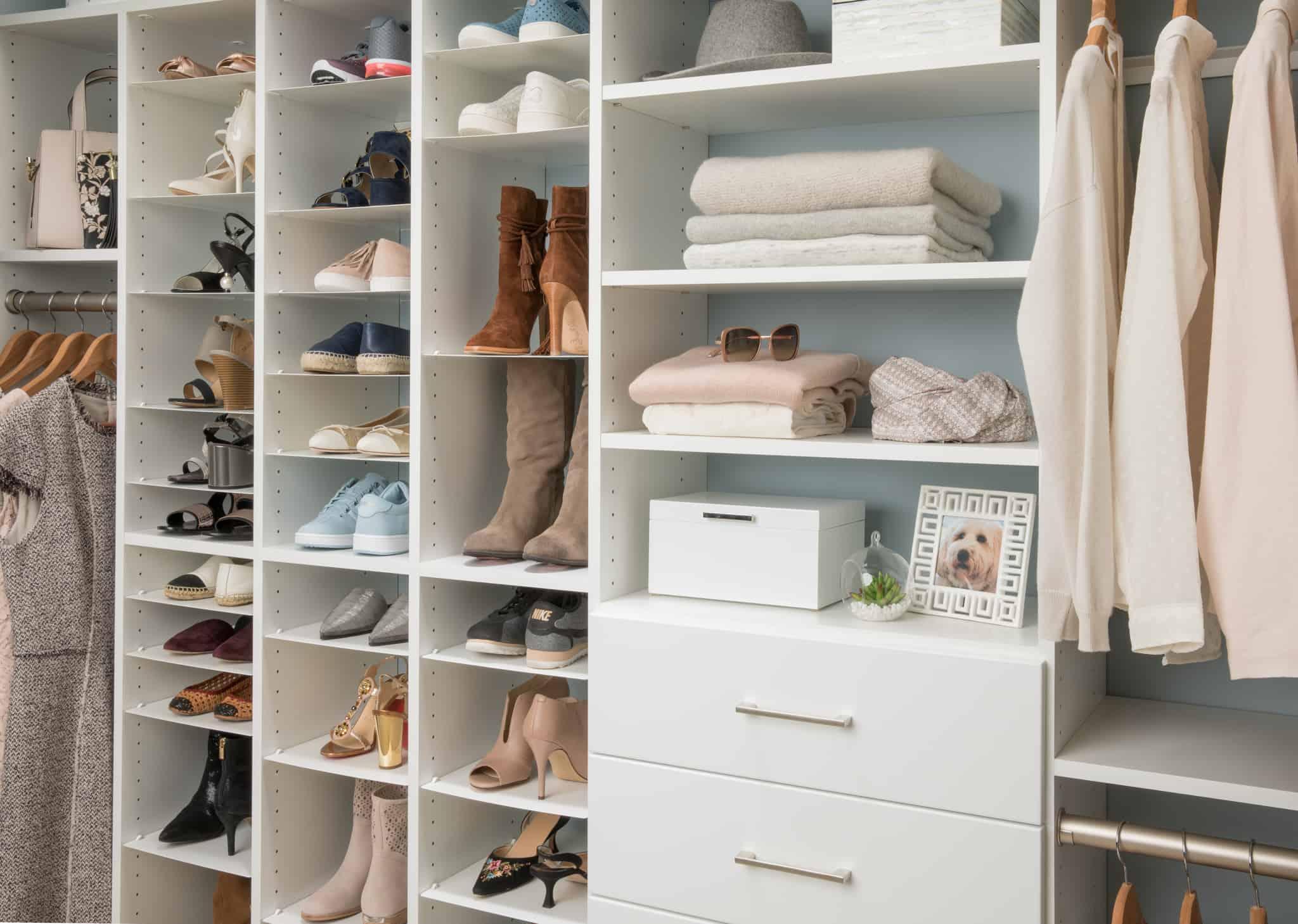 shoe closet space
