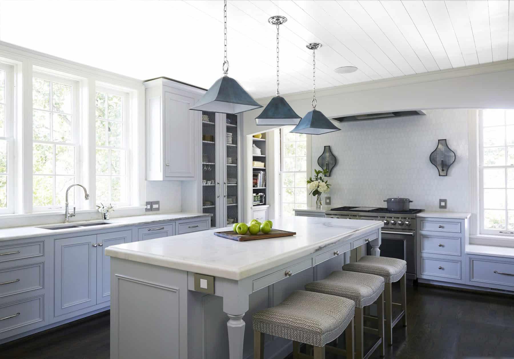 subtle blue in kitchen
