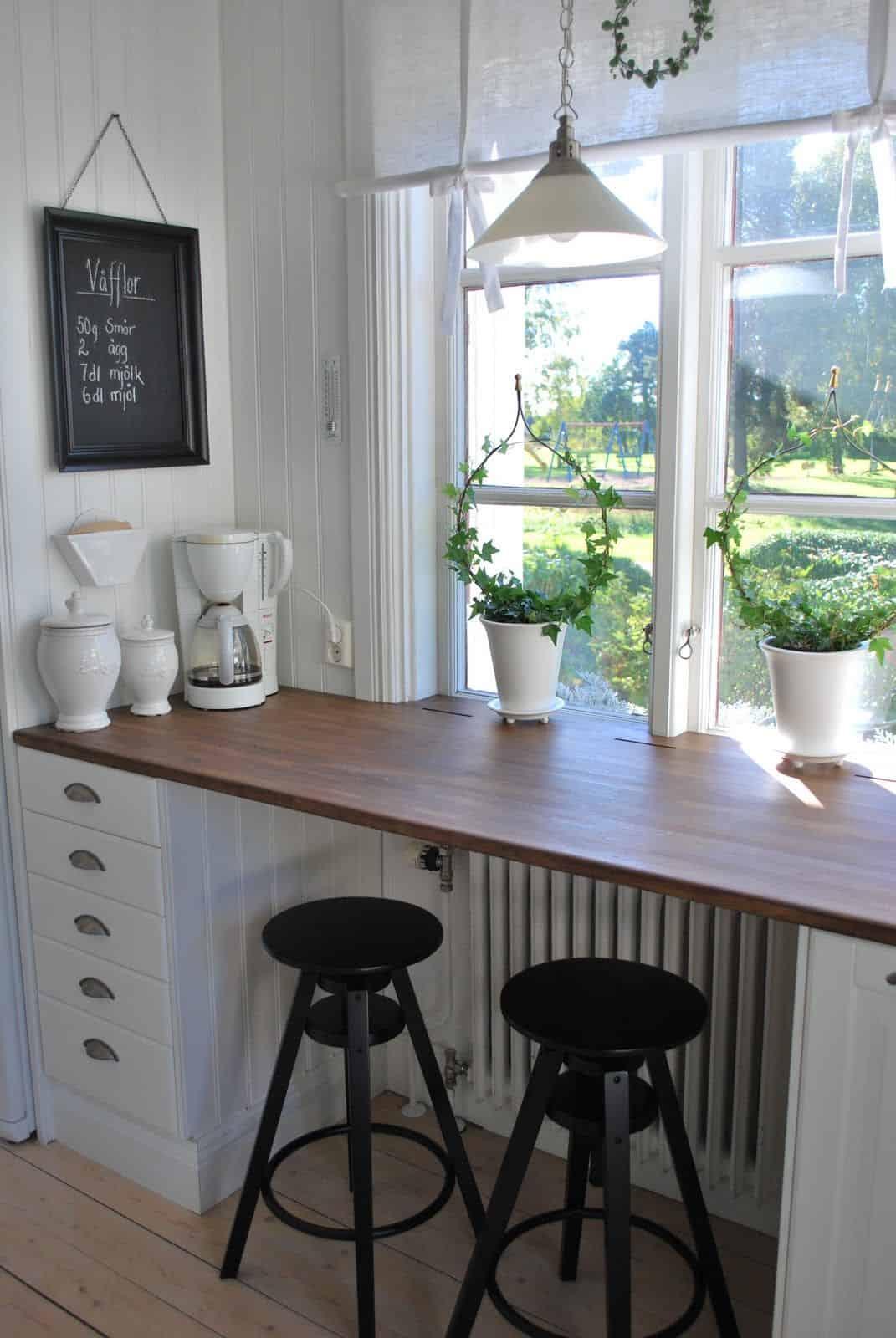 windowsill breakfast Chic, Charming Breakfast Bar Ideas