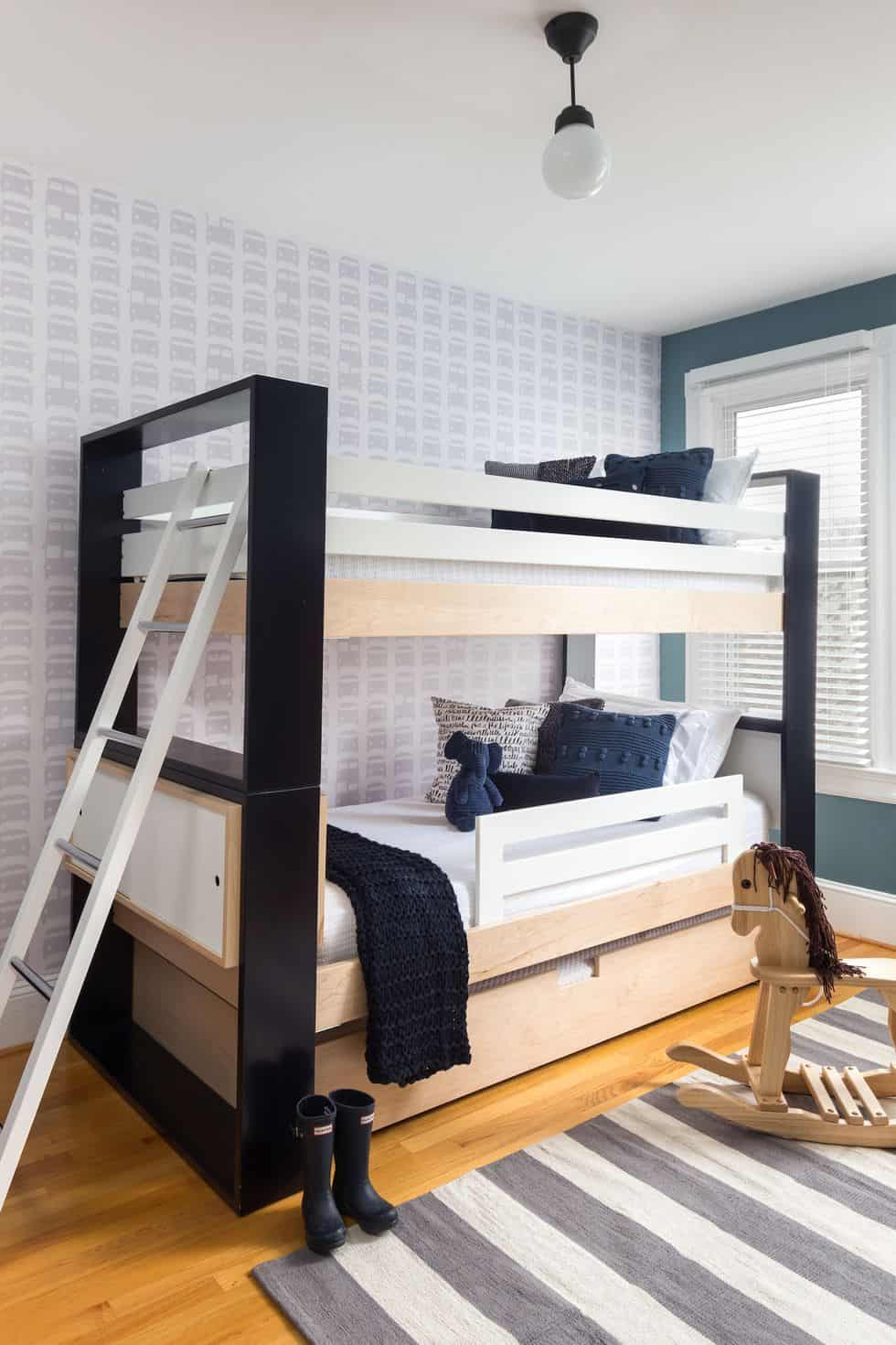 accent wall bunk bed