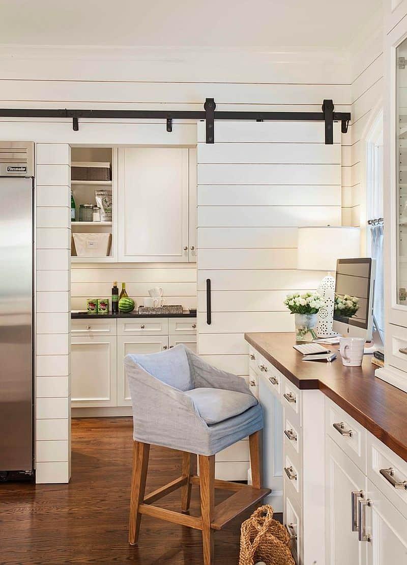 barn doors kitchen