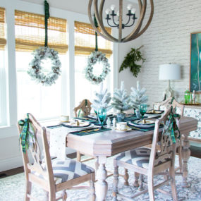 Winter dining room center pieces that bring all the charm