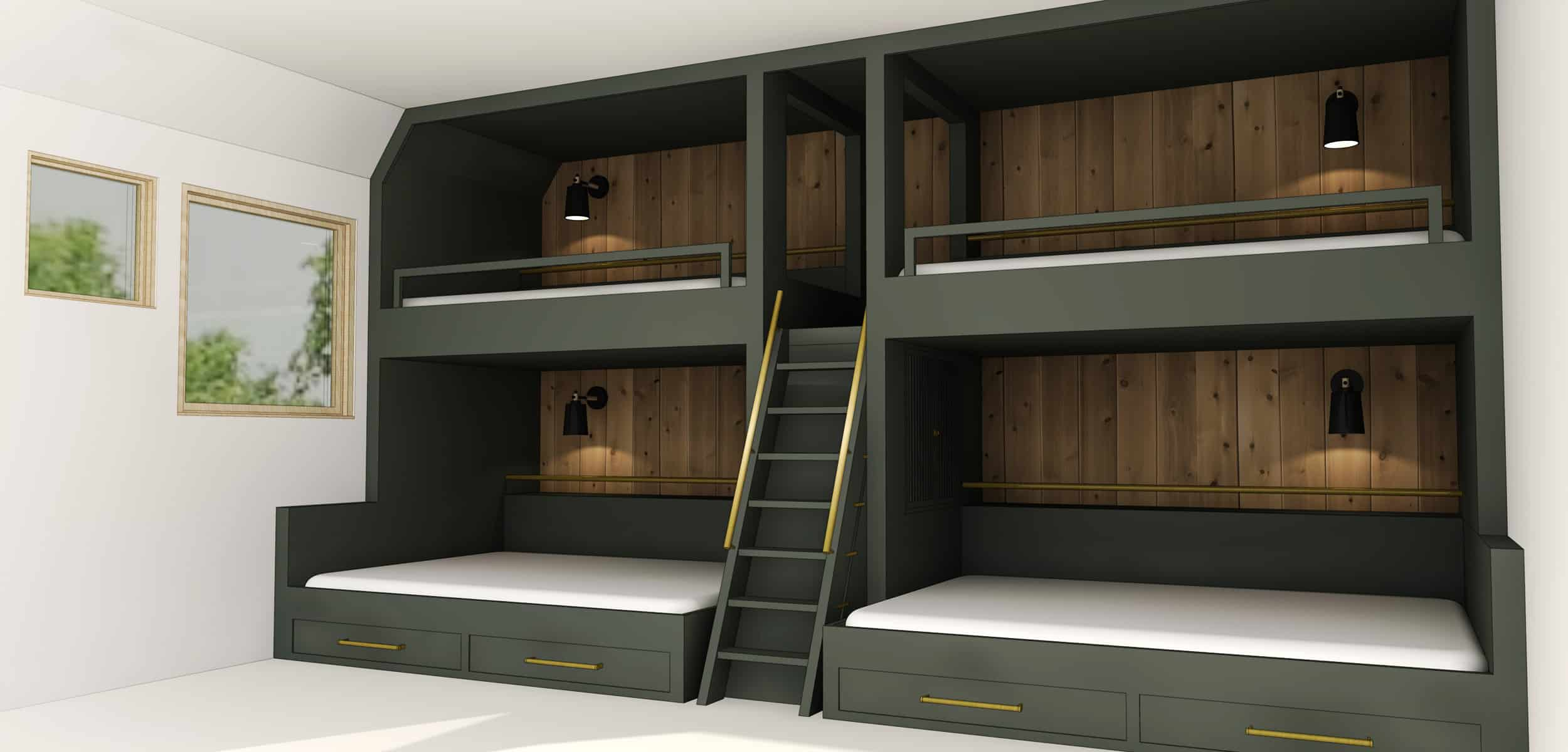 bunk buds with storage Children's room revamp: Updating your bunk beds