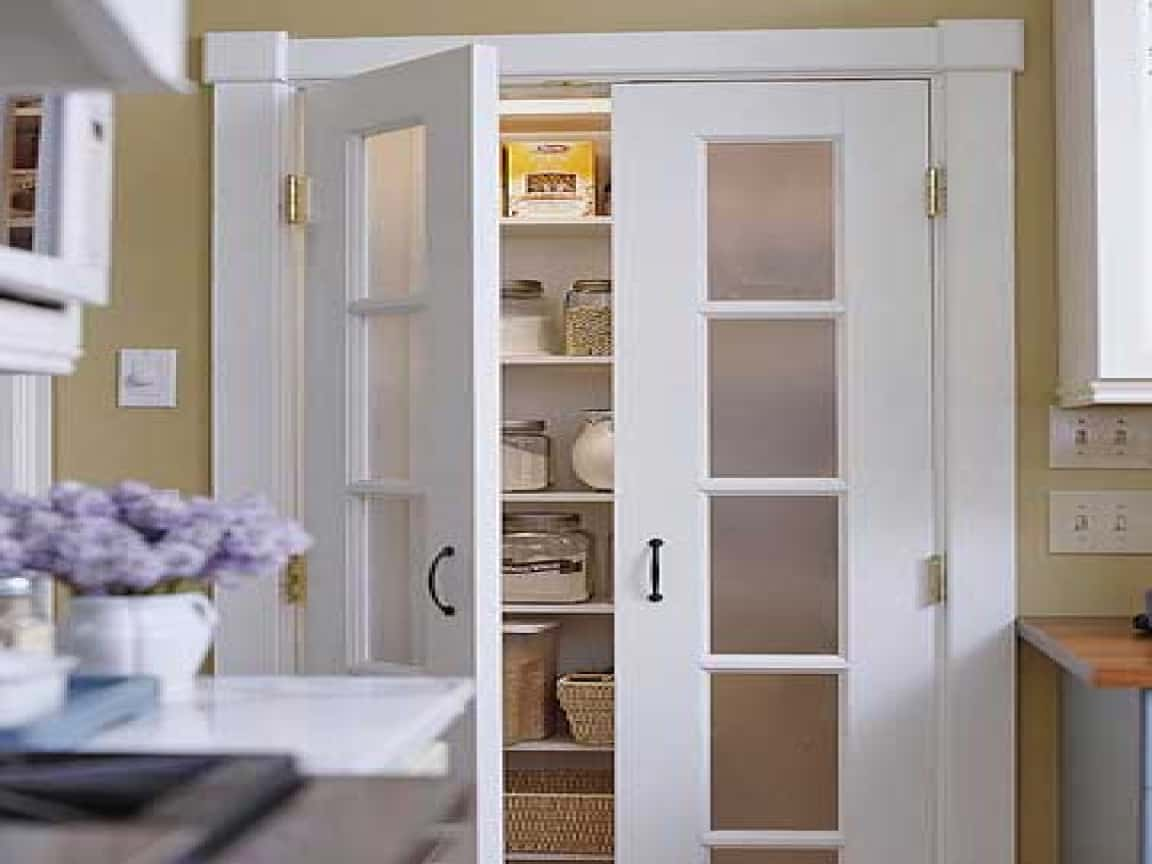 etched glasse Pantry door ideas to make your kitchen come to life