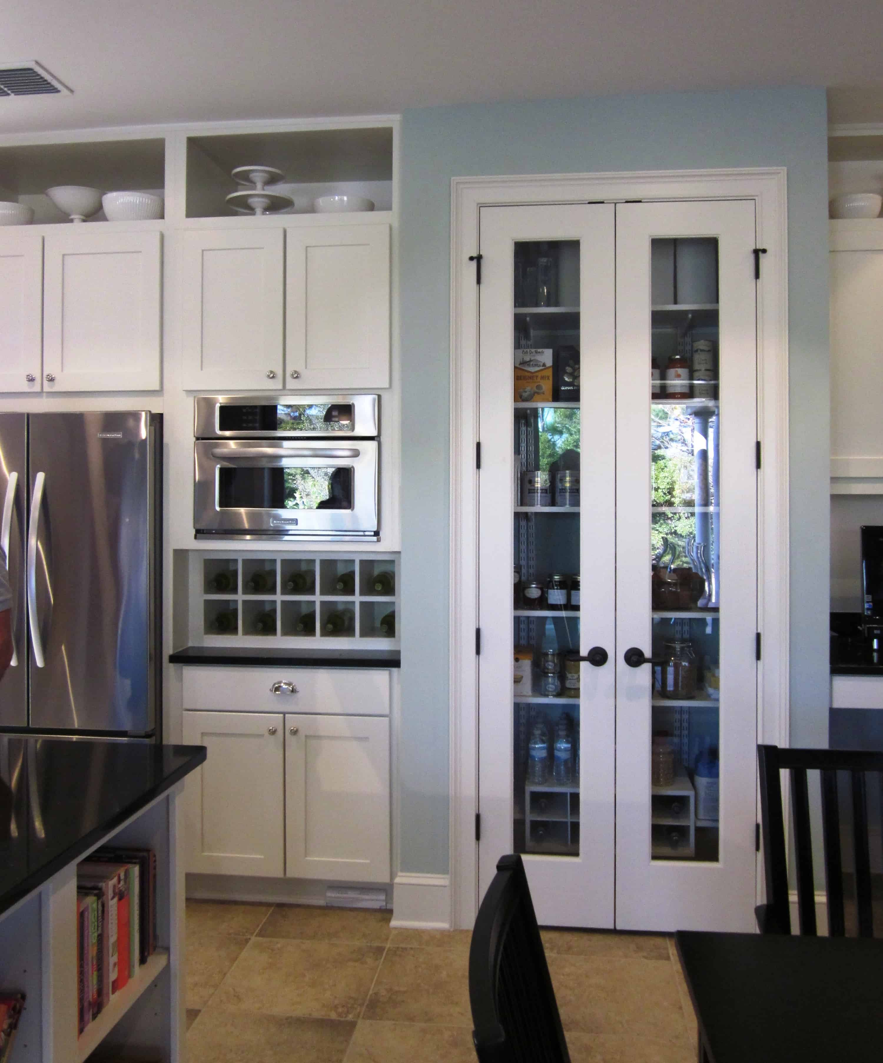 french doors as pary of the pantry