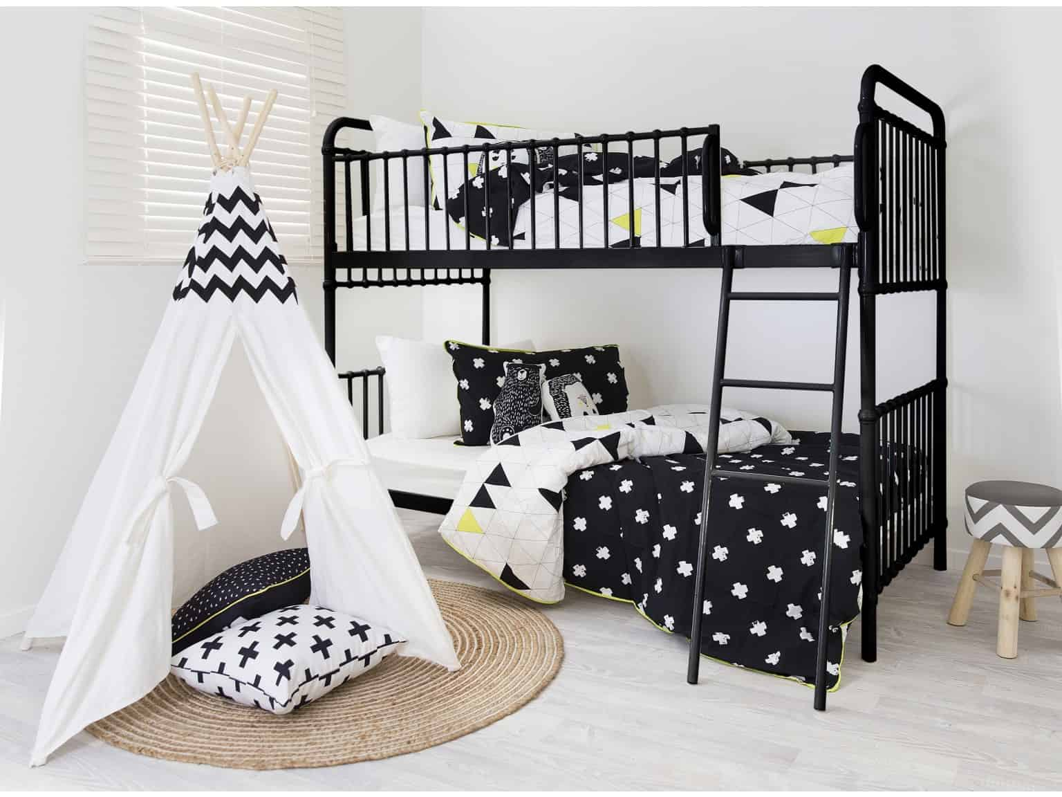 pattern bunk bed