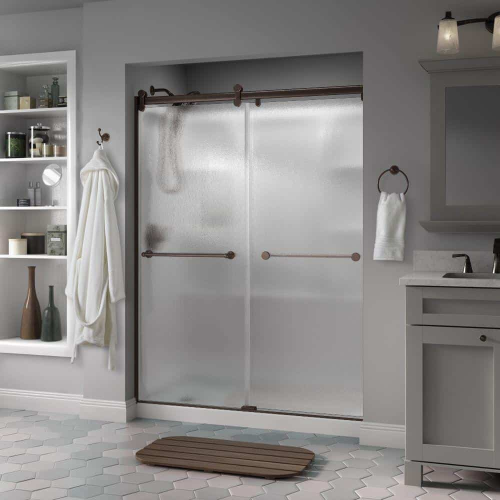 rain glass bathroom