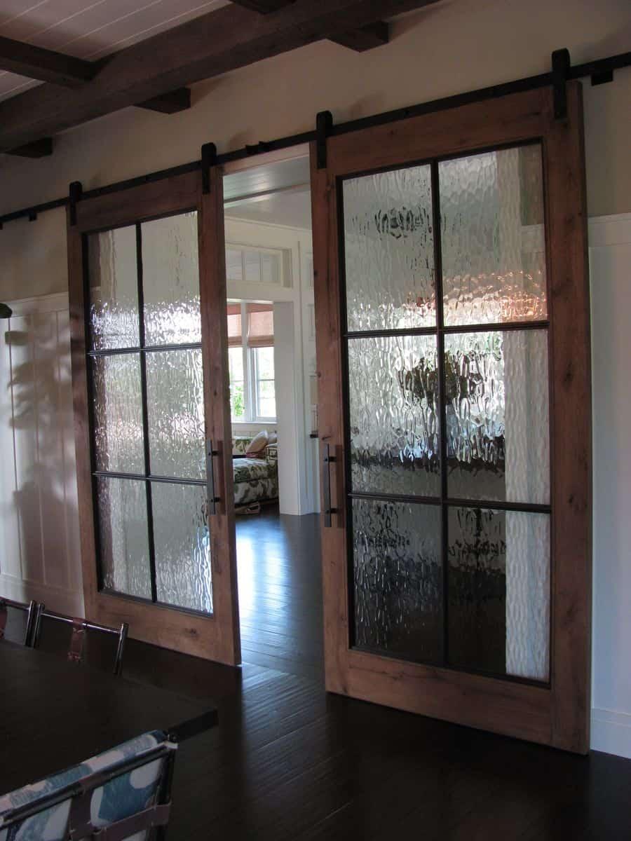 rain glass sliding doors