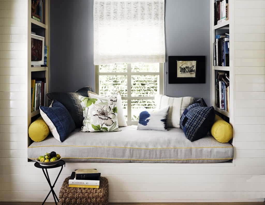 reading nook in the bedroom
